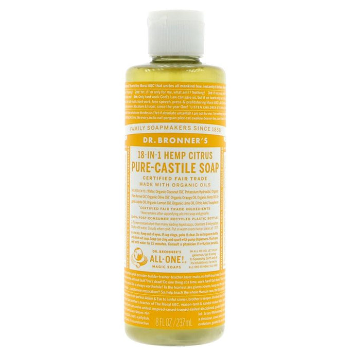 Dr Bronner's Citrus Orange Liquid Soap 237ml