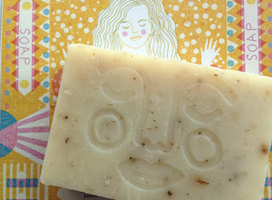 The Printed Peanut Aloe Vera Soap Bar 95g