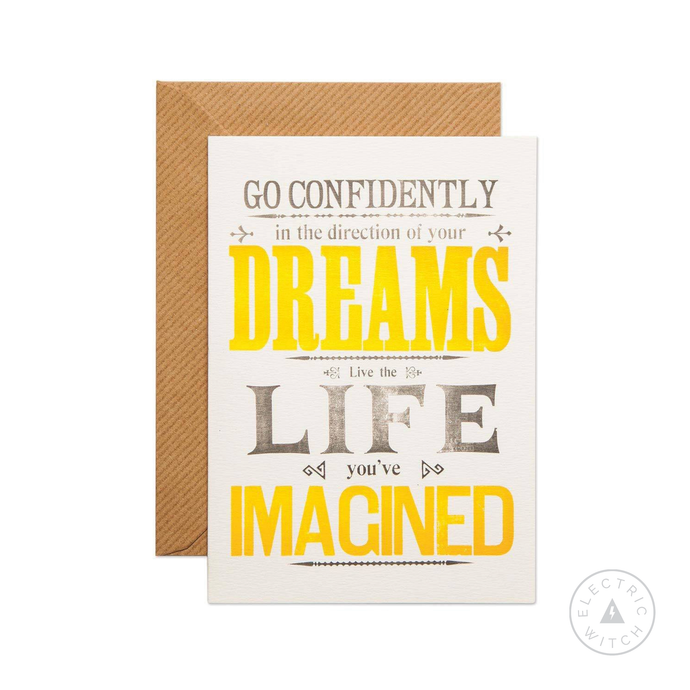 Go Confidently Greetings Card