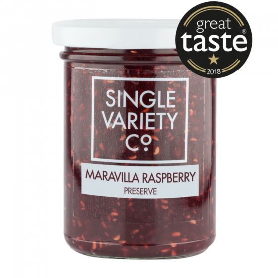 Single Variety Maravilla Raspberry Preserve 220g