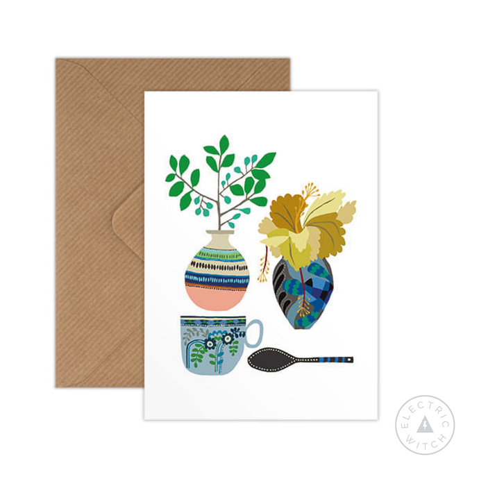 Vase and Spoon Postcard