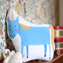 Load image into Gallery viewer, Unicorn Cushion - Blue