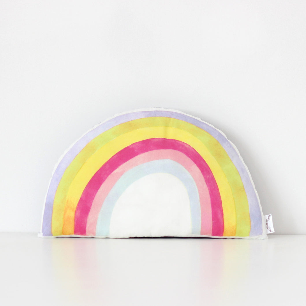Rainbow Cushion - Pastel