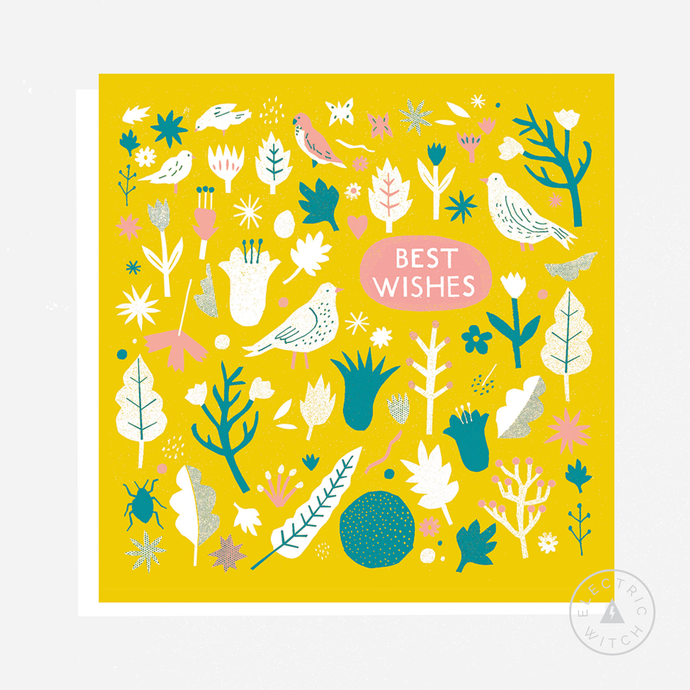 Best Wishes : Square Greetings Card