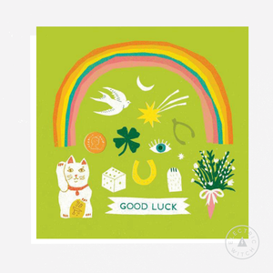 Good Luck : Square Greetings Card