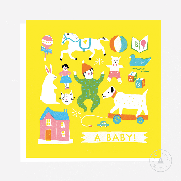 Baby Card : Square Greetings Card