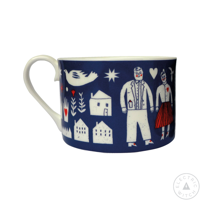 Folk Life Cup : Bone China Cup