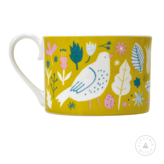 Yellow Garden Cup : Bone China Cup