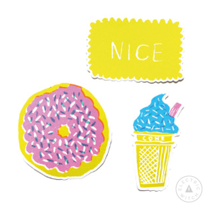 Sweet Treat Vinyl Stickers : 3 in a pack