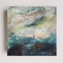 "Load image into Gallery viewer, Flowing Into the Unknown is an original acrylic painting on 8""x8""x1.5"" wood panel"