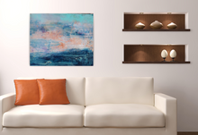"Load image into Gallery viewer, The Calm Without the Storm is an original acrylic painting on 24""x20""x1.5"" canvas"