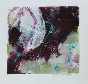 Mini abstract painting on watercolour paper