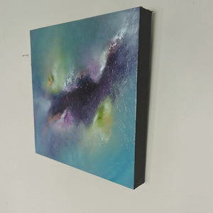 "Land of Dreams is an original acrylic painting on a 12""x12""x1.5"" gallery wrapped canvas."