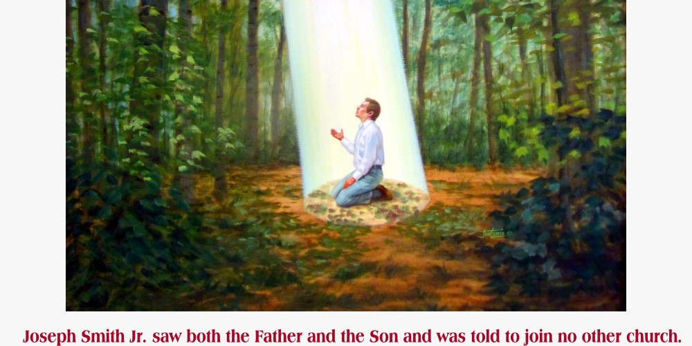 Joseph Smith Jr. saw both the Father and the Son and was told to join no other church.