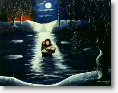 Agnes Smith Crossing the Grand River by Nancy Harlacher