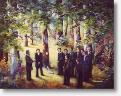 The Dedication of the Temple Site by Virginia Brown and Ryan M. Baker
