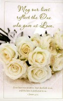 May Our Lives Reflect the One Who Gave Us Love (Wedding Bulletin)