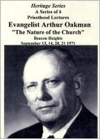 Apostle/Patriarch Arthur A. Oakman:  Inspired Scriptures, The (CDs)