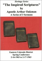 Apostle/Patriarch Arthur A. Oakman:  Nature of the Church, The (CDs)