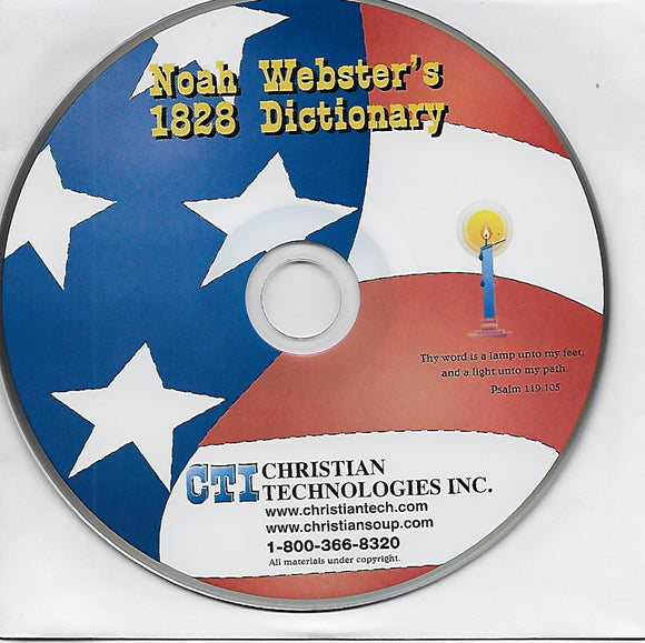 Noah Webster's 1828 Dictionary, by Christian Technologies Inc.