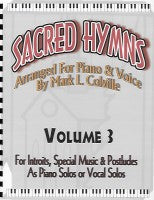 Sacred Hymns--Volume 3 (music), by Mark Colville