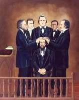 "Ordination of Joseph Smith III (11"" x 14""), by Nancy Harlacher"