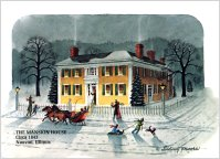 Christmas at the Mansion House (1 pkg. Christmas Cards), by Sidney Moore