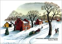 Scene from Old Nauvoo (1 pkg. Christmas Cards), by Sidney Moore