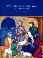 Birth of Jesus Color Book, The, illustrated by Nancy Harlacher