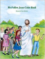 We Follow Jesus Color Book, illustrated by Nancy Harlacher