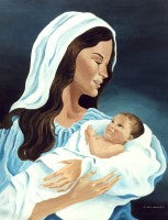 "Virgin and Child, The (8"" x 10""), by Nancy Harlacher"