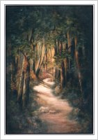 Woodland Path,The  (Note Card), by Virginia Brown