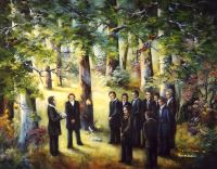 "Dedication of the Temple Site,  The (11"" x 14""), by Virginia Brown"