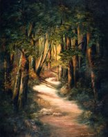 "Woodland Path, The (8"" x 10""), by Virginia Brown"