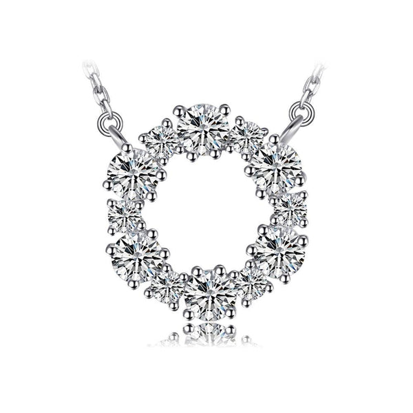 THE CROWN CHATON AND SILVER PENDANT