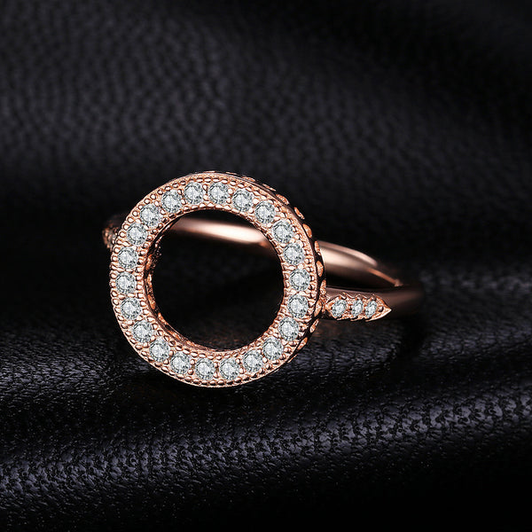 ROSE GOLD PLATED ROUND RING