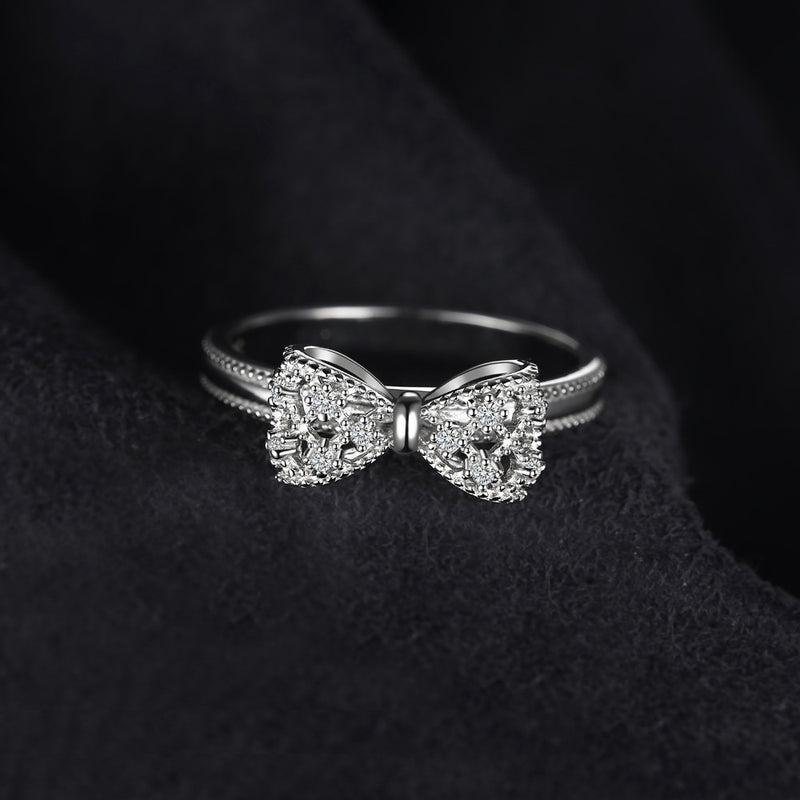 BOW TIE SILVER RING