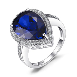 THE ONE MONGOLIAN SAPPHIRE AND SILVER RING