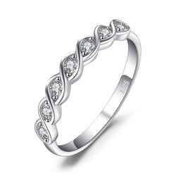 SILVER AND ZIRCONIA RING