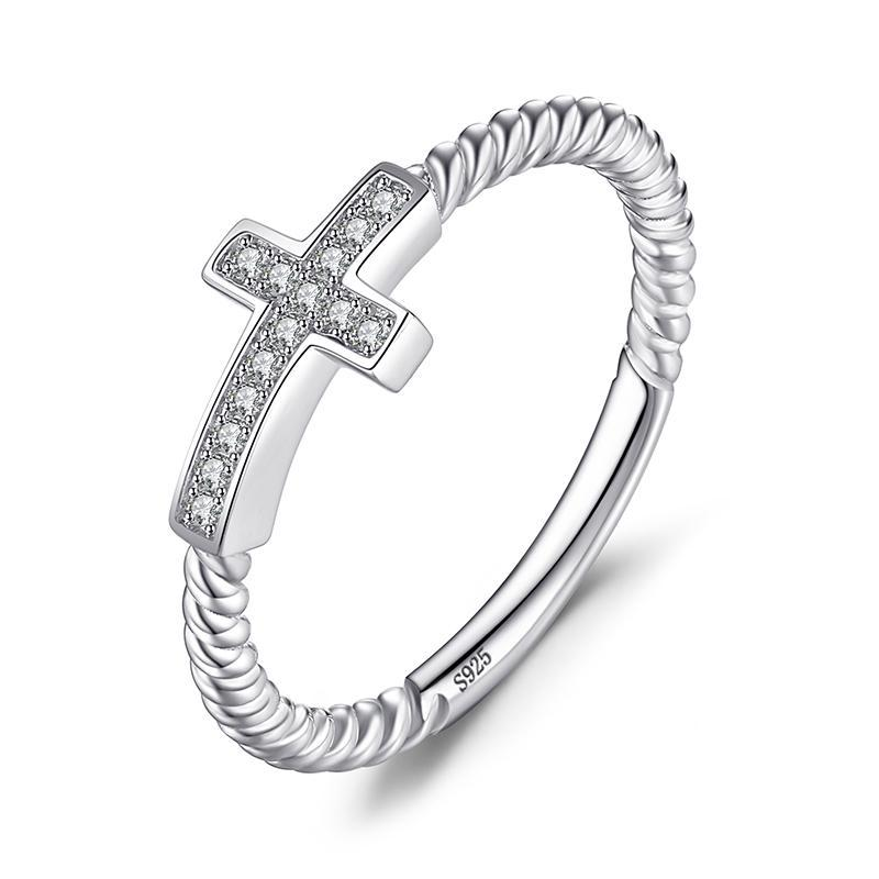 THE CROSS SILVER RING