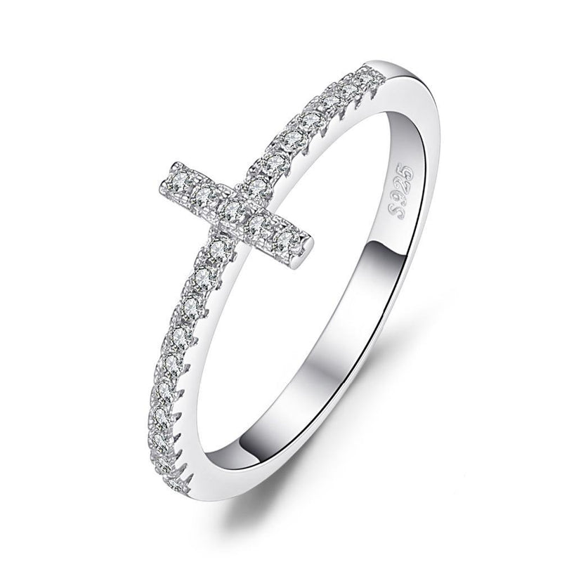 THE CROSS MINI SILVER RING