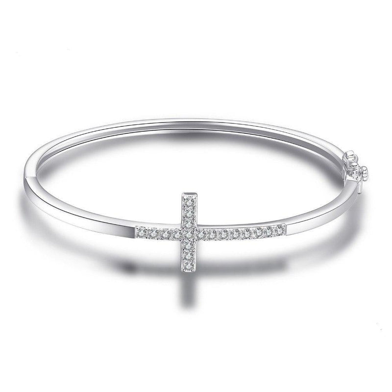 CROSSED BANGLE