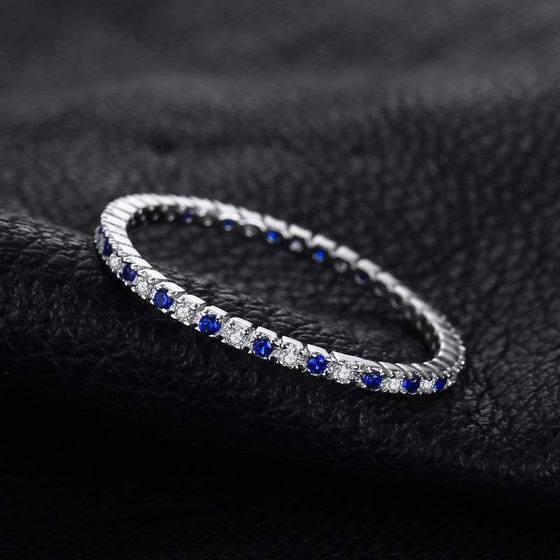 SAPPHIRE & CRYSTAL MINI RING