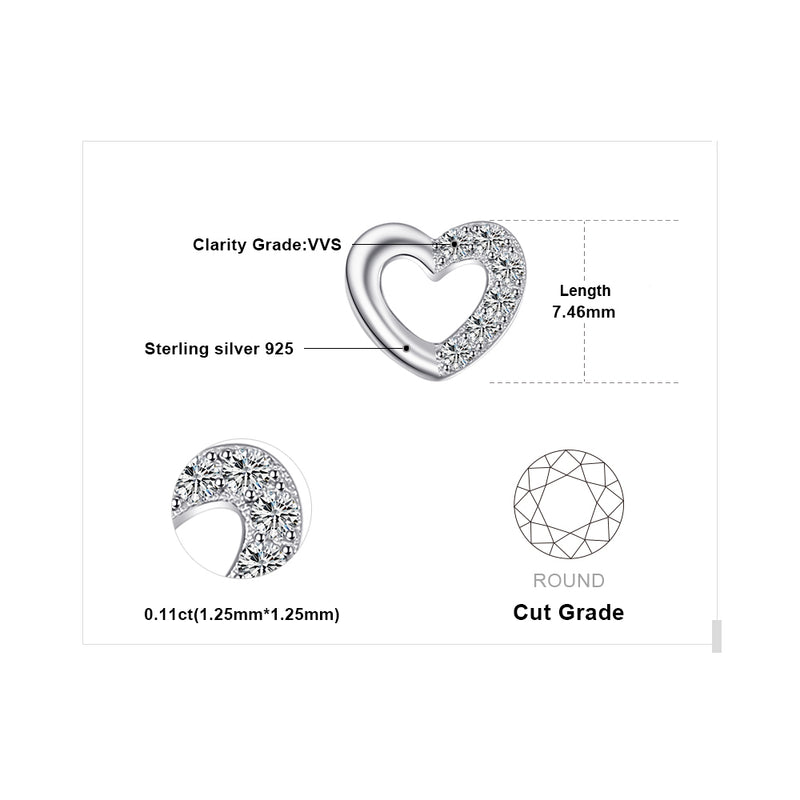 YOU AND I SILVER PIERCED EARRINGS
