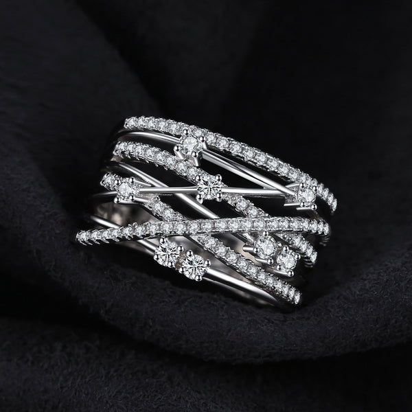 LOVE LAYERED SILVER RING