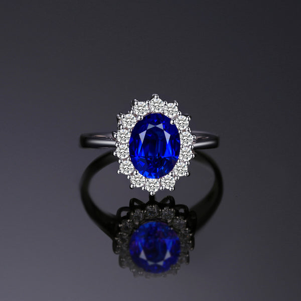 L'AUBE MONGOLIAN SAPPHIRE AND SILVER RING
