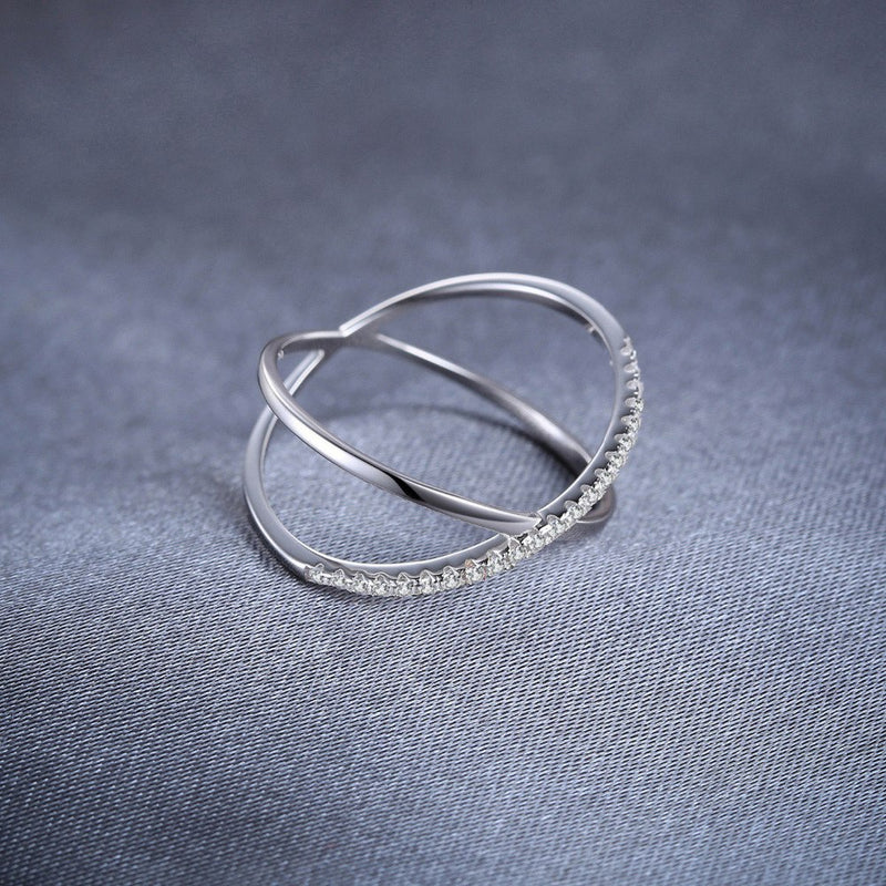 DELTA CROSS SILVER RING