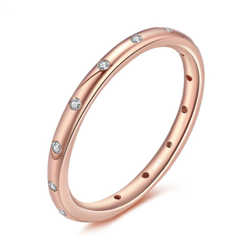 THE MINI ROSE GOLD RING