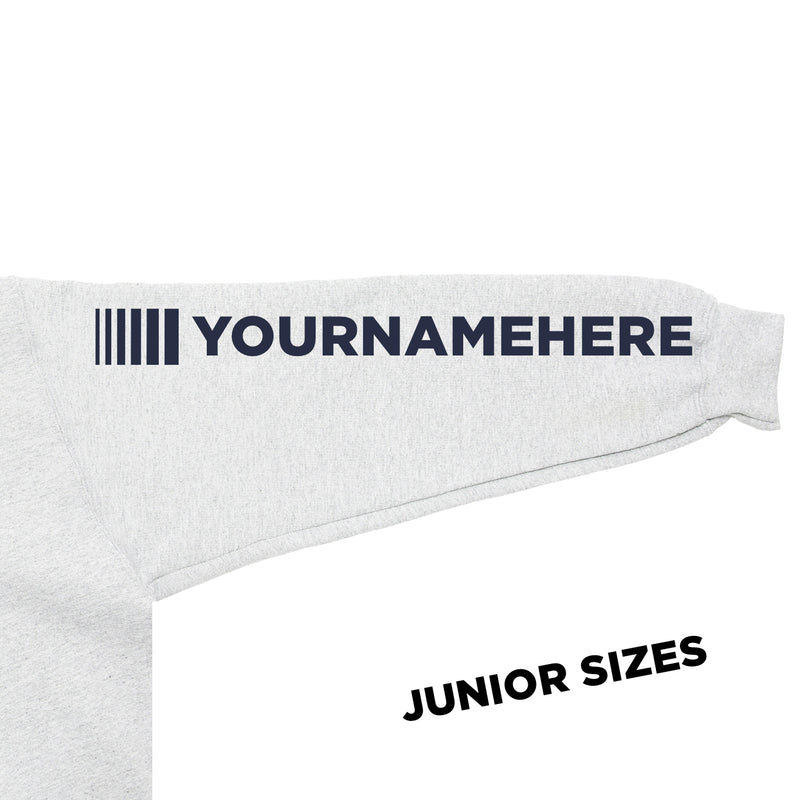 Junior DVG Personalisation Hoodie Ash Grey (Navy Writing)