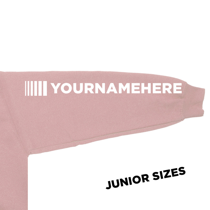 Junior DVG Personalisation Hoodie Dusty Pink (White Writing)